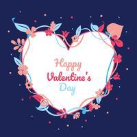 Diseño vectorial de marco de San Valentín
