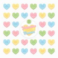 Valentine Candy Hearts Pack de vecteur