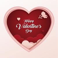 Día de San Valentín vector marco