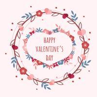 Rahmenvektor des Valentinsgrußes