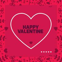 Valentines day frame Vector