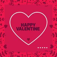 Valentines day frame Vector