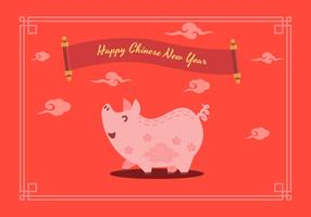 Chinees Nieuwjaar varken vectorillustratie