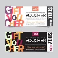 Gift Voucher Vector background for banner, poster, flyer