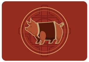 Chinese Pig New Year Vector