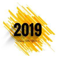 Bonne année 2019 fond coloré de célébration
