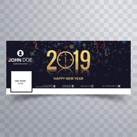 2019 new year beautiful facebook cover banner template vector