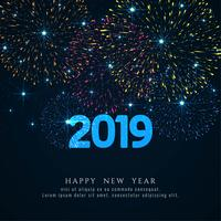 Happy new year 2019 stylish greeting background vector