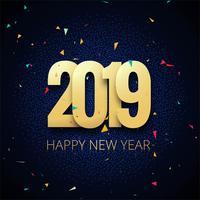 Gelukkige de vierings kleurrijke achtergrond van de Nieuwjaar 2019 kaart