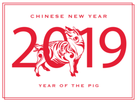 chinese new year pig  vector