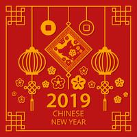 Chinese New Year 2019 Vector
