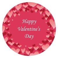 Valentine's Day abstract round background with text space.