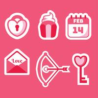Valentinsdag Elements Vector Pack