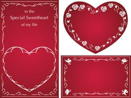 Set of vector cards/frames  for Valentine's Day, etc.