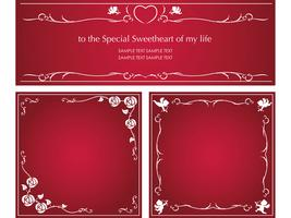 Set of vector message frames for Valentine's Day, etc.