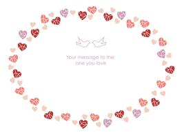 Oval frame for Valentine's Day, etc.