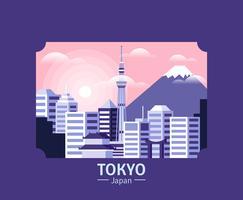 Tokyo illustratie