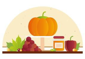 Thanksgiving Background Illustration