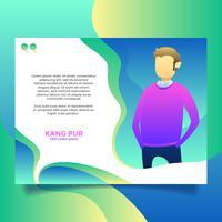Diseño testimonial plantilla vector