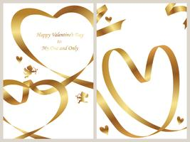 Set of two Valentine's Day card templates.