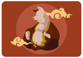 Chinesse Pig God Mythology Vector