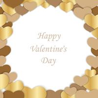 Valentine's Day seamless vector frame illustration.
