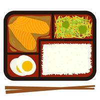 Bento-Box-Vektor-Illustration