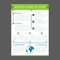 Awesome Modern Business Flyer Template Vectoren