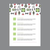 Health Lifestyle Flyer With Outlined Icons