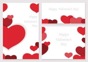 Set of Valentine's Day frames/cards.