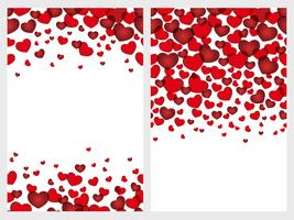 Set of two Valentine's Day seamless background.