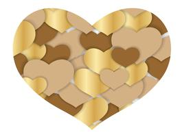 Valentine's Day abstract heart shape background.