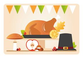 Illustration de fond de Thanksgiving