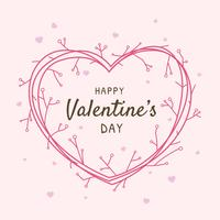 Happy Valentines Day Frame groet Vector