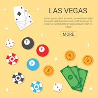 conception de la page de destination de Las Vegas