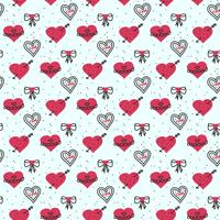 Hand Drawn Valentine Vector Pattern