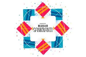cadre de cerfs-volants pour le festival makar sankranti