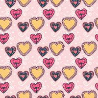 Romantic Valentine Vector Pattern