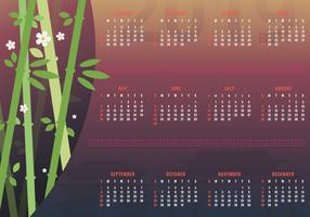 2019 Printable Chinese New Year Calendar vector