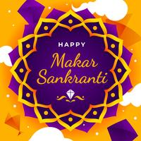 Happy Makar Sankranti Greeting Template.