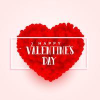 Fahnenentwurf des Valentinsgrußtag 3d Herzens