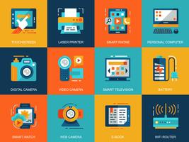 Personal Computer Devices Icon Set