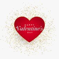 rotes Valentinstag Herz mit Glitzerpartikeln