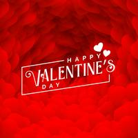 lovely red hearts backdrop for happy valentines day