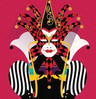 Carnevale Di Venezia Costume Joker vector