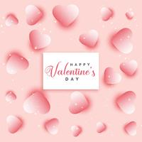 valentines day hearts pattern background design