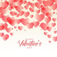 elegant hearts pattern beautiful valentines day background