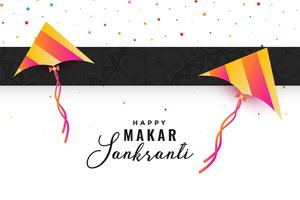 makar sankranti celebration background with flying kites