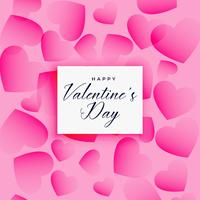 beautiful valentines day hearts pattern background