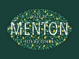 Menton France Lemon Festival Typography Design